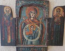 Triptyque, art populaire, Bulgarie, XIXe s.