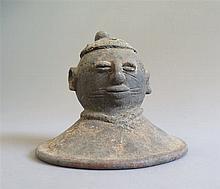 Couvercle de pot, ethnie Yoruba, Nigeria.