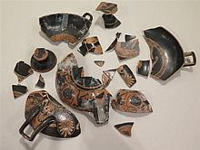 Fragments de kylix, Grande Grèce, - 400 à - 200 avant J.-C.