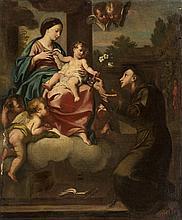 ÉCOLE ROMAINE, 18 > [IT]. Vierge à l'enfant et saint Antoine de Padoue, circa 1750,