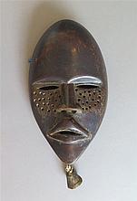 Masque de course, ethnie Dan, Côte d'Ivoire.
