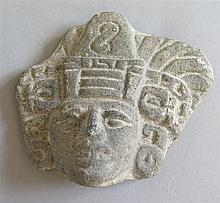 Fragment de statuette, culture Maya, 2600 avant J.-C. à 1520 après J.-C.