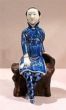 Jeune femme assise, République, Chine, 1912-1949.