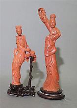 Ensemble de deux statuettes, Chine, début XXe s.