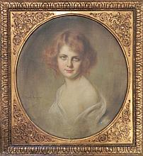 Portrait de jeune femme aux cheveux roux,