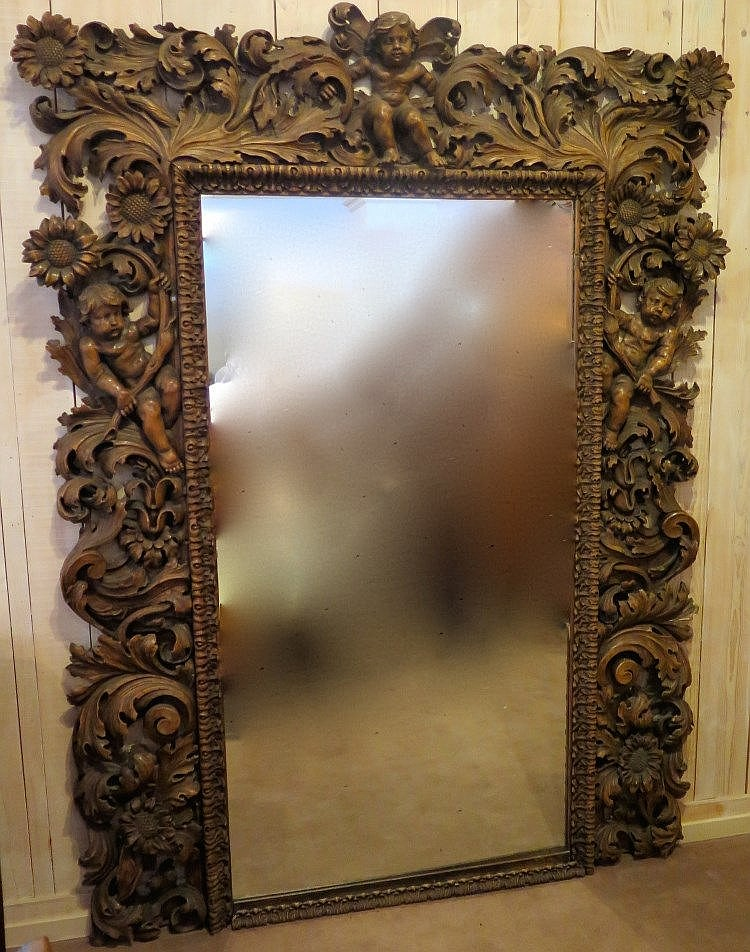 Grand miroir premi re moiti du xxe s for Grand miroir antique