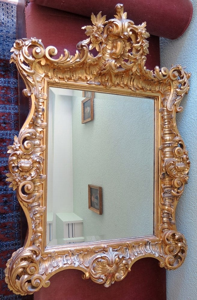 Grand miroir style louis xv d but xxe s for Grand miroir long