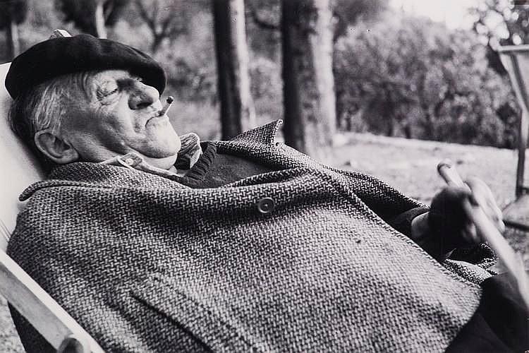 BUHLER Jean, *1919 [CH].  Portrait de Blaise Cendrars à Saint-Segond,