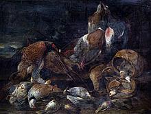 Nature morte à la perdrix et au rouge-queue,