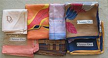CHRISTIAN DIOR.  Six foulards.