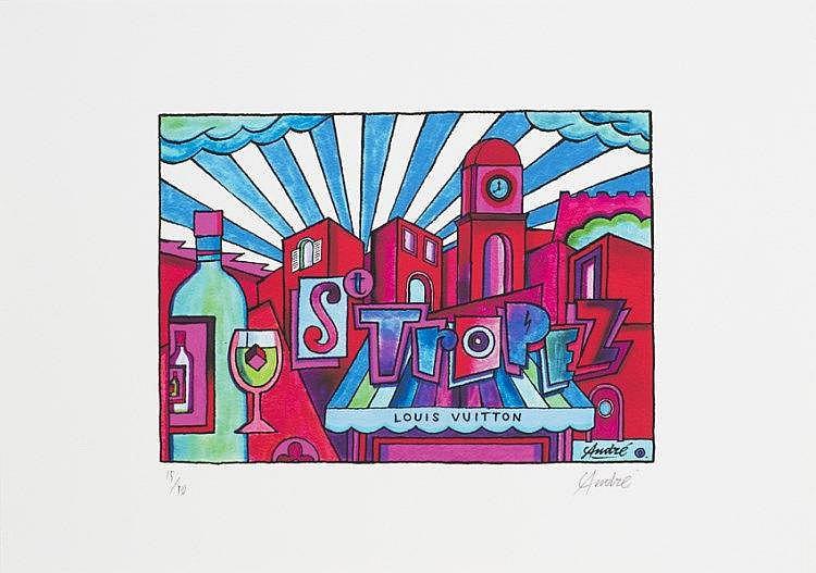 ANDRE (Monsieur A. André SARAIVA), *1971 [FR]. - Louis Vuitton - Saint Tropez #1,