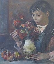 CORBELLINI Luigi, 1901-1968 [IT]. - Jeune fille au bouquet,