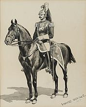 DETAILLE Edouard Jean-Baptiste,  1848-1912 [FR]. - Dragon, 1876,