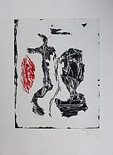 Bohary James, lithograph signed, dated and numbered, Scribe, 1990