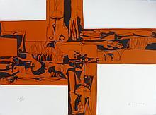 GUAYASAMIN Oswaldo, etching signed and numbered, Lidice, 1973