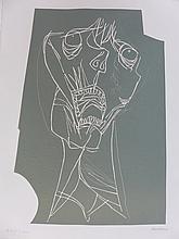 GUAYASAMIN Oswaldo,  etching signed and numbered, El grito, 1973,