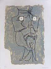 GUAYASAMIN Oswaldo, etching signed and numbered, El grito, 1973