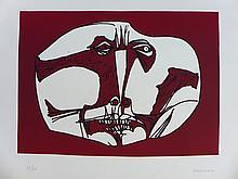 GUAYASAMIN Oswaldo,  etching signed and numbered, Mascara, 1973