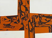 GUAYASAMIN Oswaldo, etching signed and numbered, Sans titre, 1973