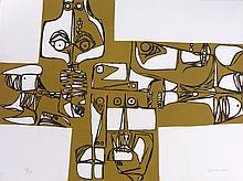 GUAYASAMIN Oswaldo,  etching signed and numbered, Milay, 1973