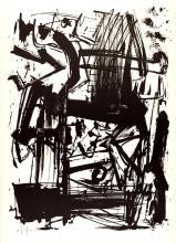 Emilio Vedova - Hommage à Joan Prats, 1975, lithograph