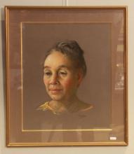 PIONIS Portrait de femme. Pastel signé.