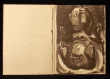 LIVRE PICASSO Livre avec dessins de Picasso. A restaurer.