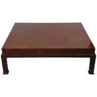 Large Burled Wood Coffee Table, Henredon