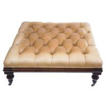 Large Henredon Leather Ottoman/Coffee Table