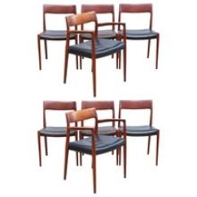 Set of Eight Niels Moller Dining Chairs