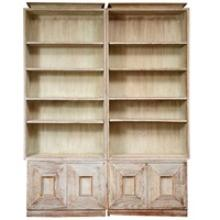 Rare Pair of Early James Mont Bookcases