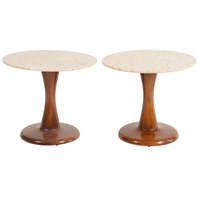 Danish Mid Century Tulip Side Tables
