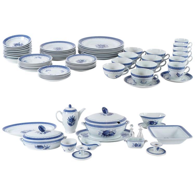 Royal Copenhagen Dinnerware Service, Purchased at Georg Jensen, NYC