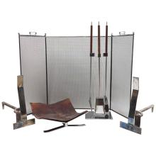 Albrizzi Complete Fireplace Set, 1960's