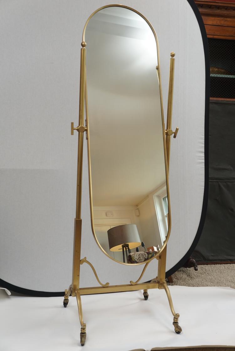Italian Cheval Mirror, Mid Century Modern