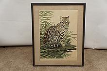 Axel Amuchastegui (1921-2002) Seated Leopard Print
