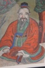 Antique Korean 19th Century Pastel on Paper