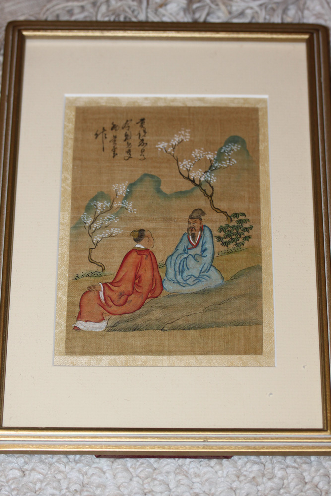 Antique chinese pastel and silk painting for Asian antiques uk