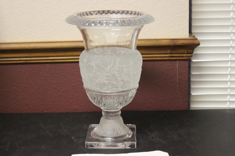 A Frost Glass Urn