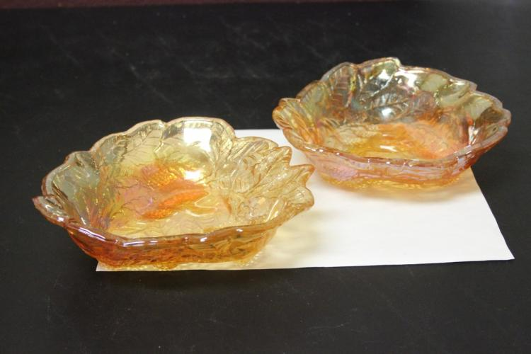 Pair of Carnival Glass Bowls