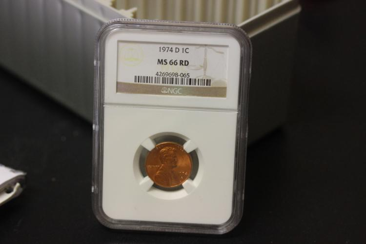 A Graded NGC 1974-D MS66 RD 1cent