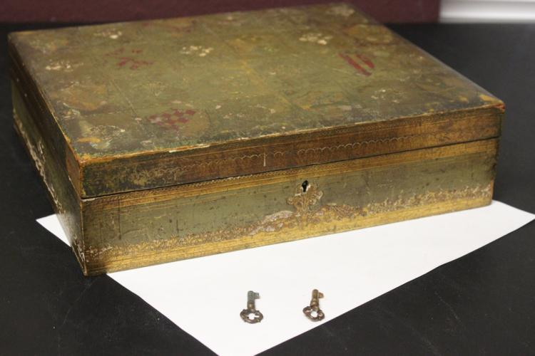 An Italian Florentine Box with Key