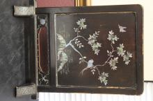 A Vintage Chinese/Korean/Asian Mother of Pearl Lacquer Plaque