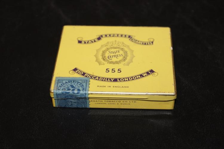 A 555 State Express Cigarettes Tin