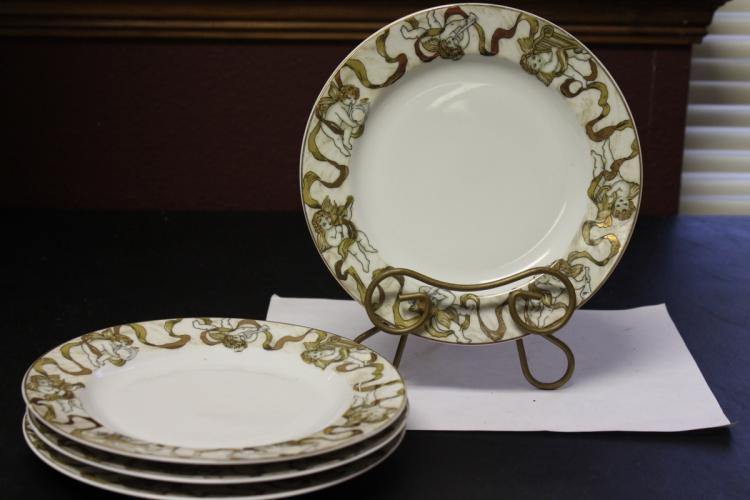 Set of 4 American Atelier Heavenly Hosts Salad Plates
