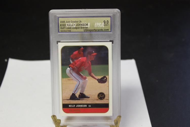 A Graded Kelly Johnson Baseball Card