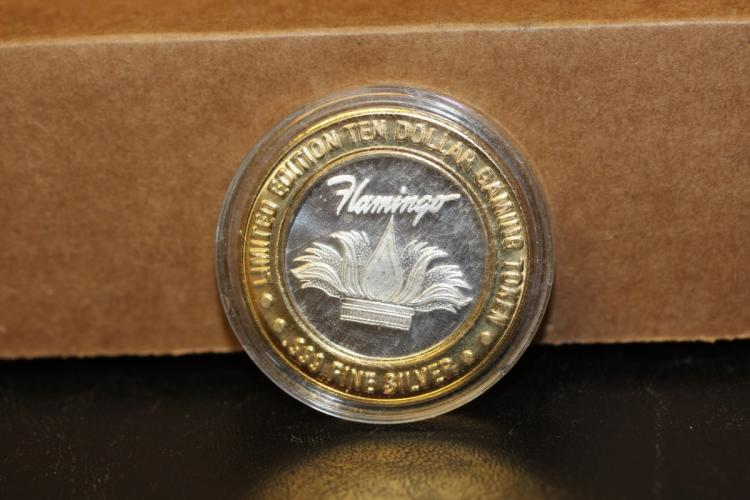 A .999 Silver and Brass Casino Token