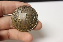 A Very Well Carved Japanese Bronze Button