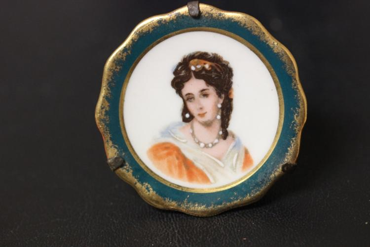 A Miniature Portrait Plate by Limoge
