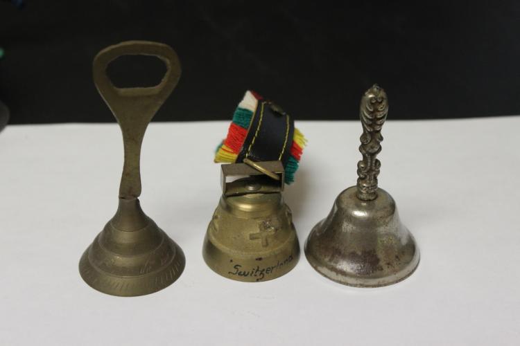 Lot of 3 Brass Bells - Vintage
